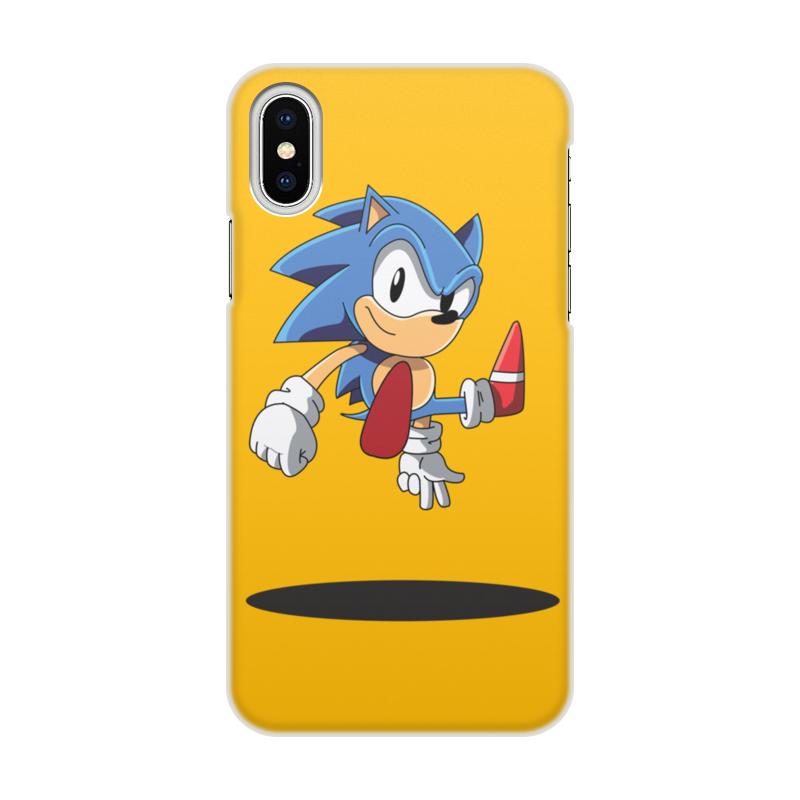 Чехол для iPhone X/XS, объёмная печать Printio Sonic x чехол для iphone x xs объёмная печать printio борец сумо утагава кунисада