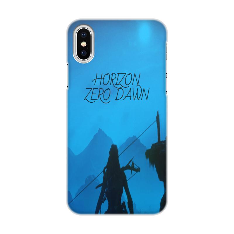 Чехол для iPhone X/XS, объёмная печать Printio Horizon zero dawn цена и фото