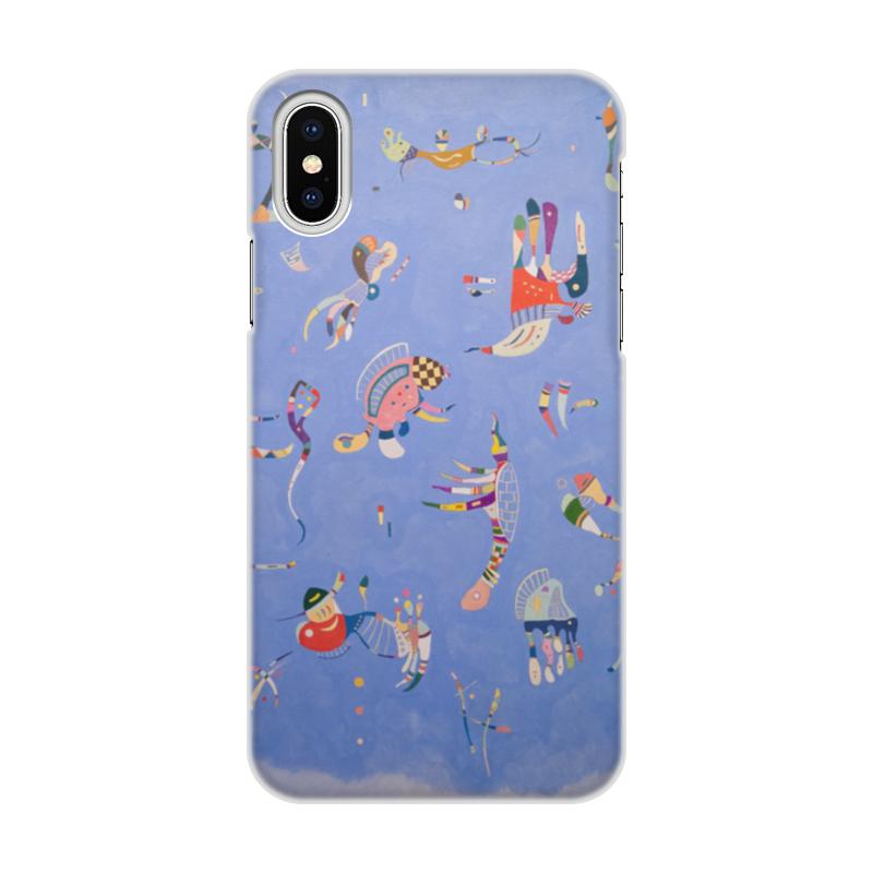 Чехол для iPhone X/XS, объёмная печать Printio Синее небо (василий кандинский) чехол для iphone x xs объёмная печать printio князь михаил черниговский в орде василий смирнов