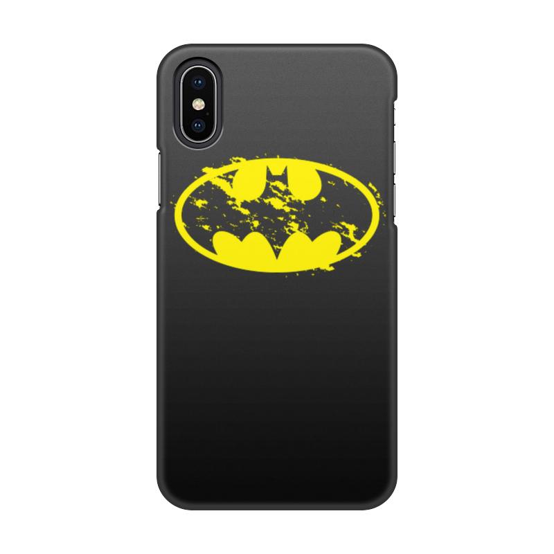 Чехол для iPhone X, объёмная печать Printio Бетмен чехол для iphone interstep для iphone x soft t metal adv красный
