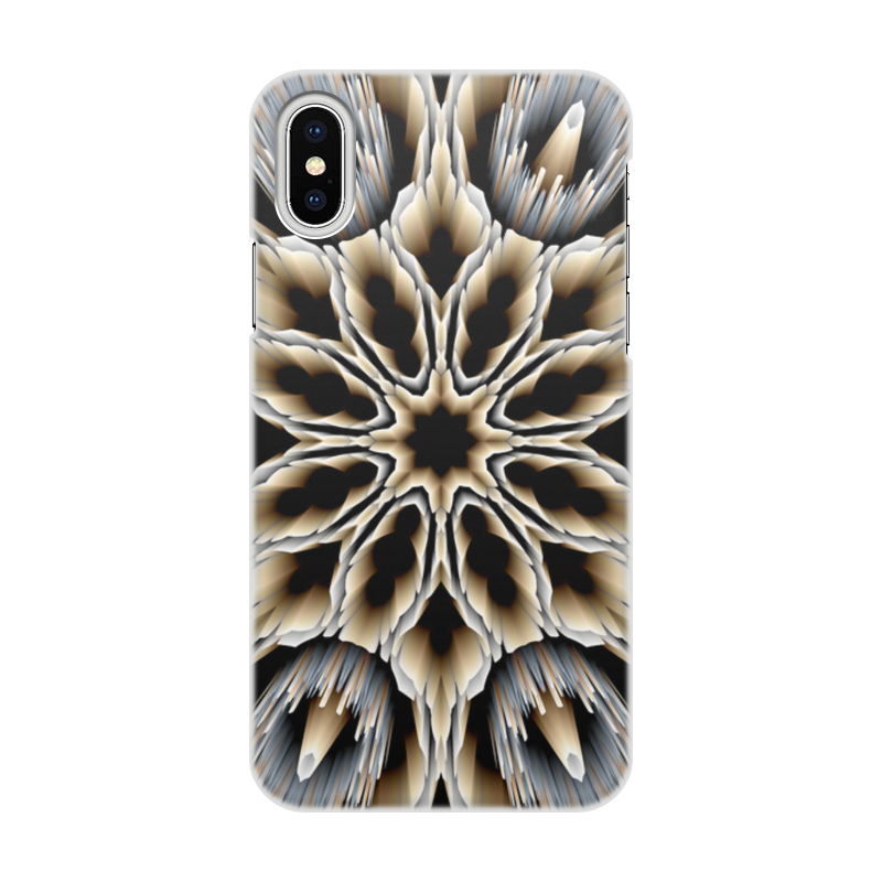 Чехол для iPhone X/XS, объёмная печать Printio Мембрана чехол для iphone x xs объёмная печать printio i love mideast