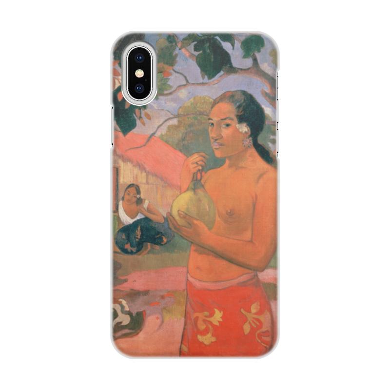 Чехол для iPhone X/XS, объёмная печать Printio Женщина, держащая плод (поль гоген) рюкзак с полной запечаткой printio женщина держащая плод поль гоген