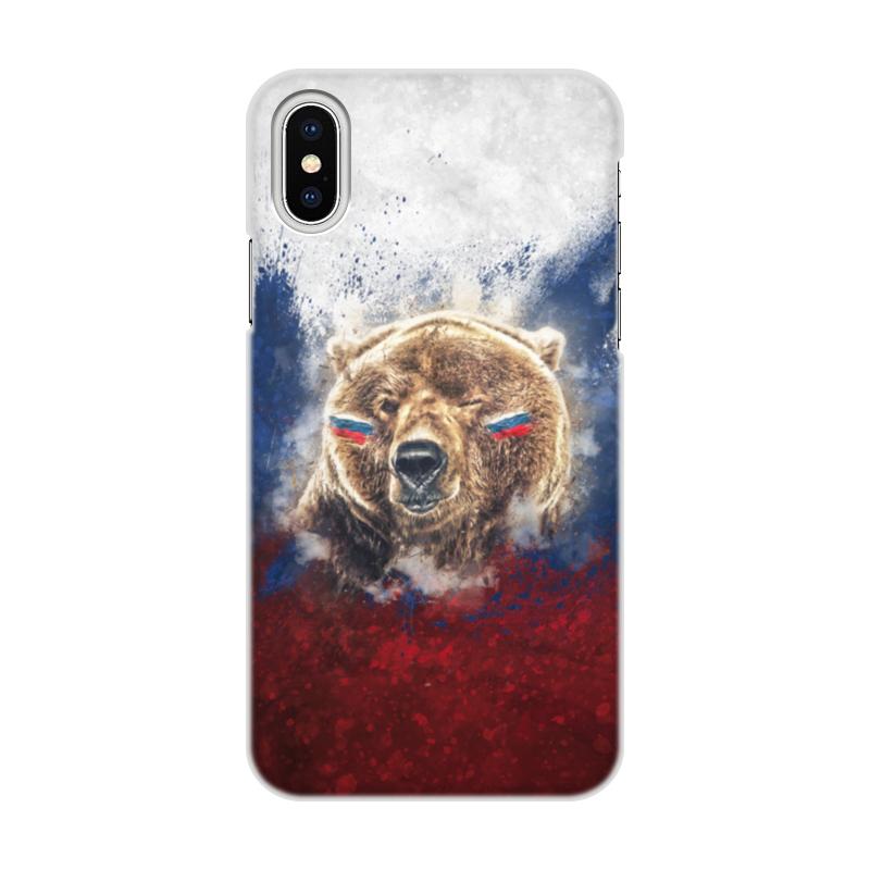 Чехол для iPhone X, объёмная печать Printio Русский медведь чехол для iphone 7 глянцевый printio русский флаг