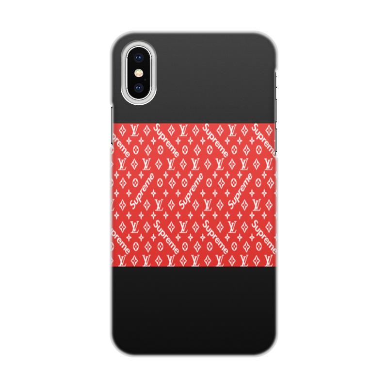 Чехол для iPhone X/XS, объёмная печать Printio Supreme