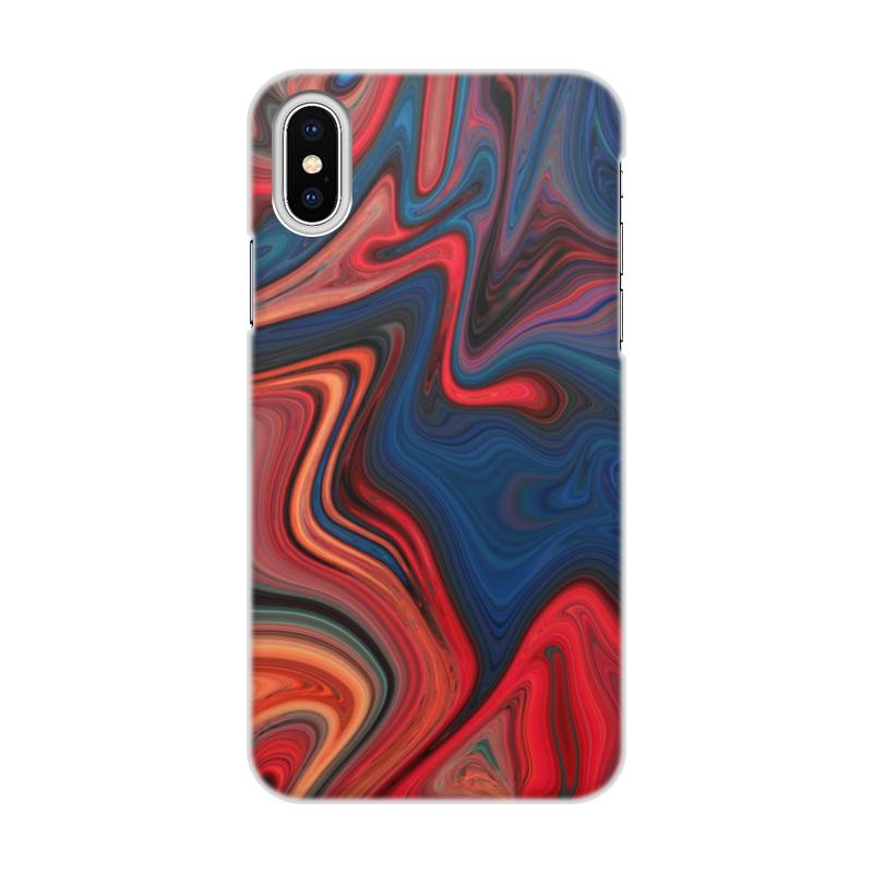 лучшая цена Чехол для iPhone X/XS, объёмная печать Printio Art streaks seven