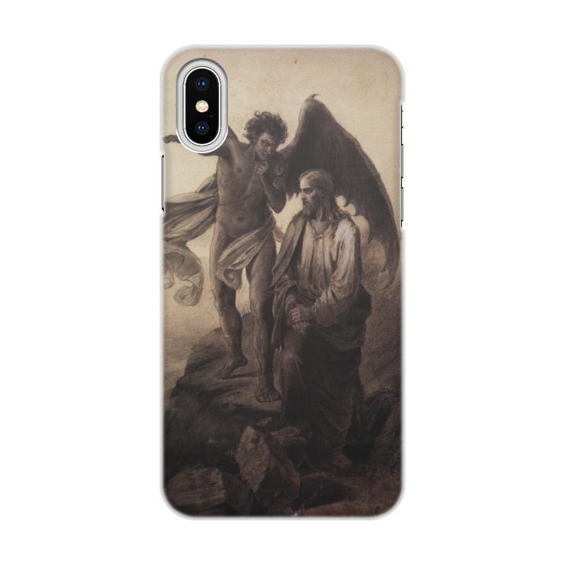 Чехол для iPhone X/XS, объёмная печать Printio Искушение христа (василий суриков) пазл 43 5 x 31 4 408 элементов printio искушение христа василий суриков