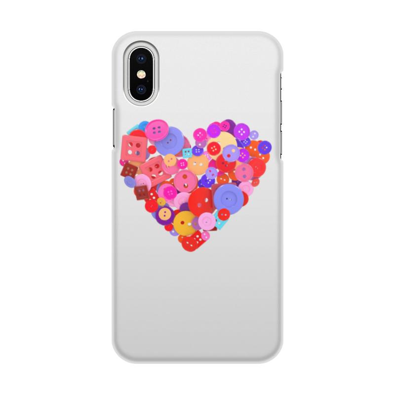 Чехол для iPhone X/XS, объёмная печать Printio День всех влюбленных игры для влюбленных iphone