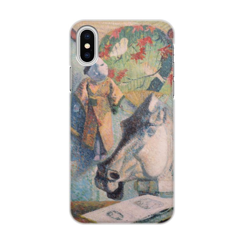 Чехол для iPhone X/XS, объёмная печать Printio Натюрморт с конской головой (поль гоген) футболка с полной запечаткой мужская printio натюрморт с конской головой поль гоген