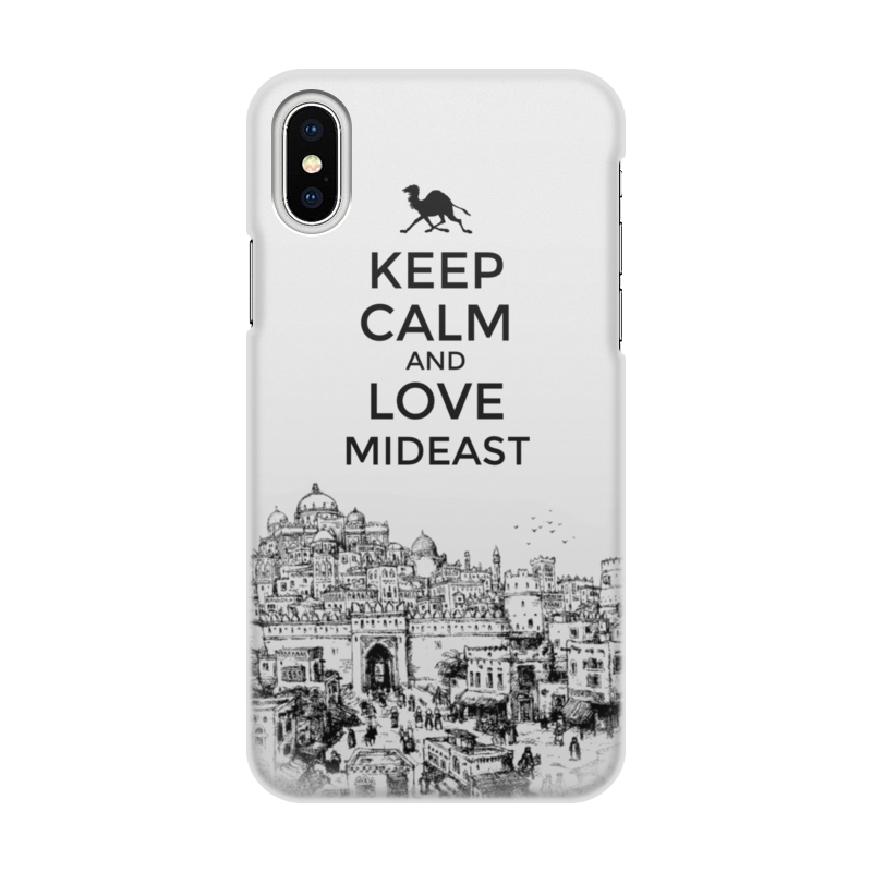 Чехол для iPhone X/XS, объёмная печать Printio Keep calm and love mideast сумка printio keep calm and ski on