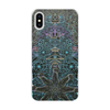 """Чехол для iPhone X/XS, объёмная печать """"Индуистские символы,  мехенди"""" - символ, индуизм, индийский, шива, мехенди"""