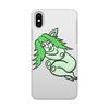 """Чехол для iPhone X/XS, объёмная печать """"Дремлющая троллита"""" - девушка, тролль, графика, сладкий сон, мифические существа"""