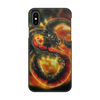 "Чехол для iPhone X/XS, объёмная печать ""Dragon Fire"" - змея, дракон, огонь"