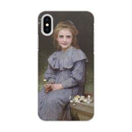 "Чехол для iPhone X/XS, объёмная печать ""Маргаритки (картина Вильяма Бугро)"" - цветы, картина, академизм, живопись, бугро"