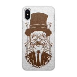 "Чехол для iPhone X/XS, объёмная печать ""Steampunk"" - steampunk, стимпанк"