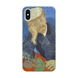 "Чехол для iPhone X/XS, объёмная печать ""Портрет доктора Гаше (Винсент ван Гог)"" - картина, ван гог, живопись"