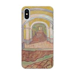 "Чехол для iPhone X/XS, объёмная печать ""Коридор убежища Святого Павла в Сен-Реми"" - картина, ван гог, живопись"