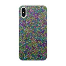 """Чехол для iPhone X/XS, объёмная печать """"Диапазон"""" - плата, схема"""