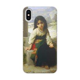 "Чехол для iPhone X/XS, объёмная печать ""Маленькая нищенка (картина Вильяма Бугро)"" - картина, девочка, академизм, живопись, бугро"