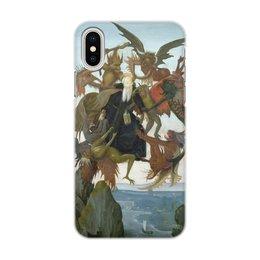 """Чехол для iPhone X, объёмная печать """"Мучения святого Антония (Микеланджело)"""" - микеланджело, живопись, картина"""