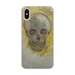 """Чехол для iPhone X/XS, объёмная печать """"Череп II (Винсент ван Гог)"""" - картина, ван гог, живопись"""