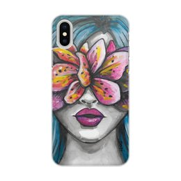 """Чехол для iPhone X/XS, объёмная печать """"Весна"""" - праздник, любовь, девушка, цветы, весна"""