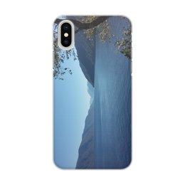 """Чехол для iPhone X, объёмная печать """"Удивительный Алтай"""" - телецкое озеро, горный алтай, горы, лето, природа"""