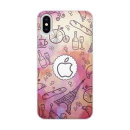 """Чехол для iPhone X/XS, объёмная печать """"Paris"""" - apple, париж"""