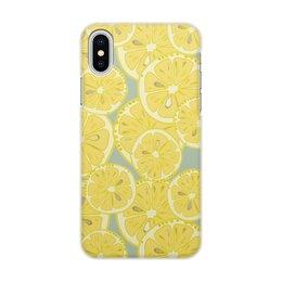 """Чехол для iPhone X/XS, объёмная печать """"лимоны"""" - лето, фрукты, лимон, лимоны, цитрусовые"""