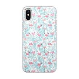 """Чехол для iPhone X, объёмная печать """"Фламинго"""" - птицы, фламинго"""