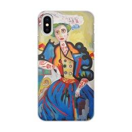 """Чехол для iPhone X, объёмная печать """"Женщина (Амадеу ди Соза-Кардозу)"""" - амадеу ди соза-кардозу, живопись, картина"""