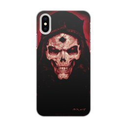 """Чехол для iPhone X/XS, объёмная печать """"Skull"""" - череп, скелет, тьма, ужасы"""