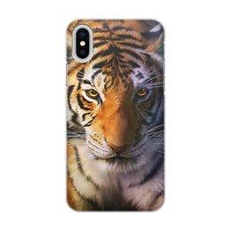 """Чехол для iPhone X/XS, объёмная печать """"ТИГРЫ. ЖИВАЯ ПРИРОДА"""" - хищник, животные, фото, стиль эксклюзив креатив красота яркость, арт фэнтези"""