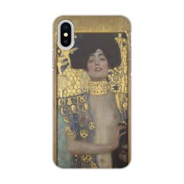 """Чехол для iPhone X, объёмная печать """"Джудит I (Густав Климт)"""" - климт, живопись, картина"""