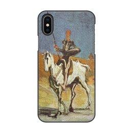 """Чехол для iPhone X/XS, объёмная печать """"Дон Кихот (картина Оноре Домье)"""" - картина, живопись, литература, домье"""