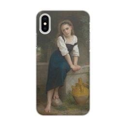 "Чехол для iPhone X/XS, объёмная печать ""Сирота у фонтана (Orpheline à la fontaine)"" - картина, живопись, бугро"