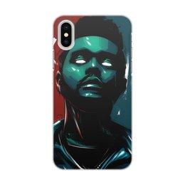 "Чехол для iPhone X/XS, объёмная печать ""The Weeknd neon"" - music, star, theweeknd, digitalart"