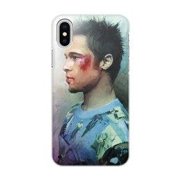"""Чехол для iPhone X/XS, объёмная печать """"Tyler Durden"""" - films, фильмы, бойцовский клуб, fight club, tyler durden"""