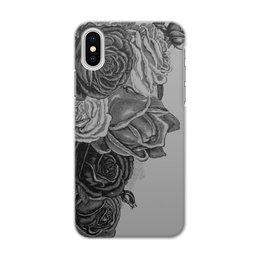 """Чехол для iPhone X/XS, объёмная печать """"Букет роз"""" - цветы, роза, розы, букет, шипы"""