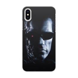 """Чехол для iPhone X, объёмная печать """"Терминатор Т-1000"""" - terminator, терминатор"""