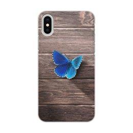 """Чехол для iPhone X, объёмная печать """"Бабочка"""" - фото, бабочка"""