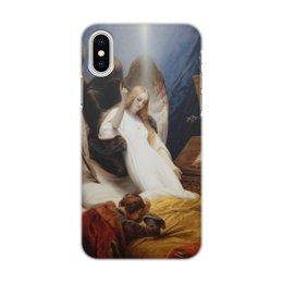 """Чехол для iPhone X/XS, объёмная печать """"Ангел Смерти (Орас Верне)"""" - ангел, картина, живопись, верне"""