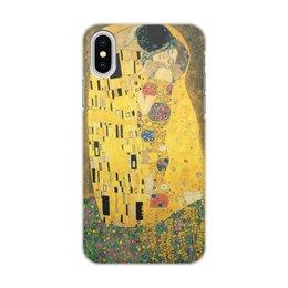 """Чехол для iPhone X, объёмная печать """"Поцелуй (картина Густава Климта)"""" - картина, поцелуй, живопись, климт"""