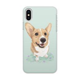 """Чехол для iPhone X/XS, объёмная печать """"Порода Корги"""" - арт, рисунок, собака, фотография, корги"""