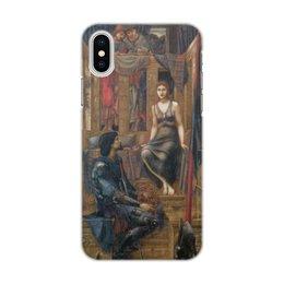 """Чехол для iPhone X/XS, объёмная печать """"Король Кофетуа и нищенка (Эдвард Бёрн-Джонс)"""" - картина, живопись, бёрн-джонс"""