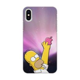 """Чехол для iPhone X/XS, объёмная печать """"Гомер"""" - гомер"""