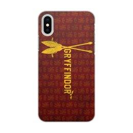"Чехол для iPhone X/XS, объёмная печать ""Гриффиндор"" - harry potter, гарри поттер, гриффиндор"