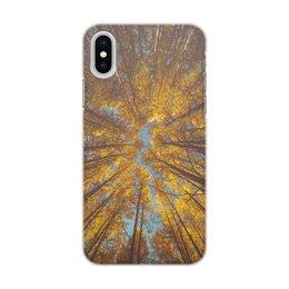 """Чехол для iPhone X/XS, объёмная печать """"Осень"""" - осень, листопад, школьники, первый класс, первоклассники"""