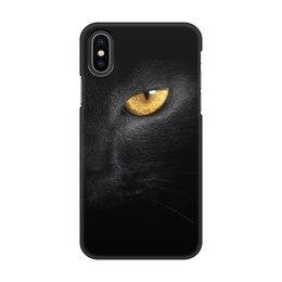 """Чехол для iPhone X/XS, объёмная печать """"Глаз пантеры"""" - животные, кошки, телефон, чехлы"""