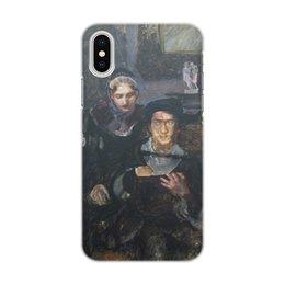 """Чехол для iPhone X/XS, объёмная печать """"Гамлет и Офелия (картина Михаила Врубеля)"""" - картина, живопись, шекспир, литература, врубель"""