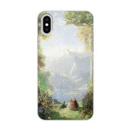 """Чехол для iPhone X/XS, объёмная печать """"Дворец грёз (Томас Эдвин Мостин)"""" - картина, живопись, мостин, романтизм"""